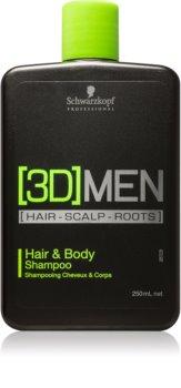 Schwarzkopf Professional [3D] MEN šampon in gel za prhanje 2v1